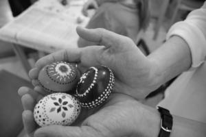Sorbische Ostereier bei den Köchelkompetenzen